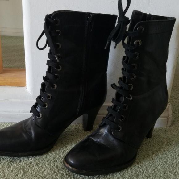 via spiga lace up boots
